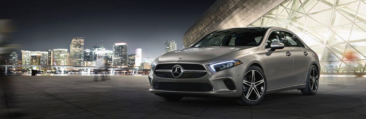 Mercedes-Benz A-Class at night
