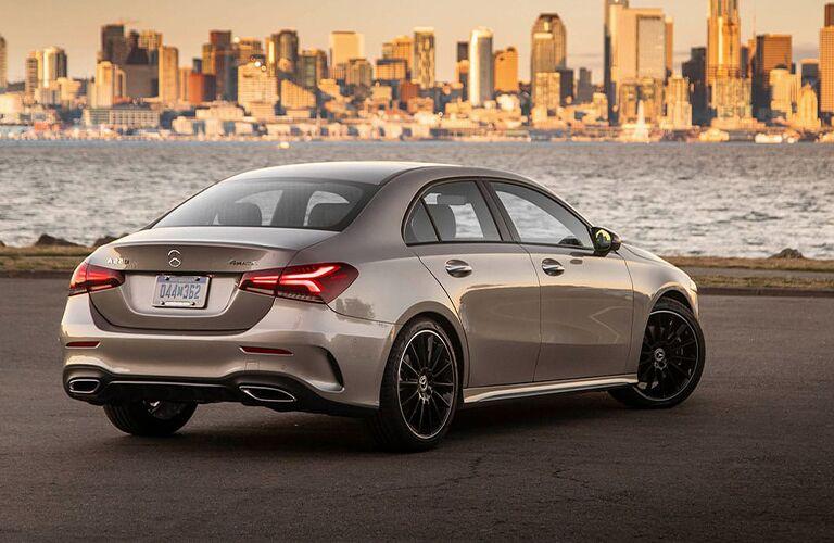 Mercedes-Benz A-Class gazes longingly at a city