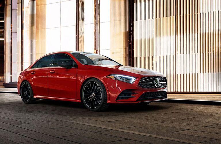 Red Mercedes-Benz A-Class