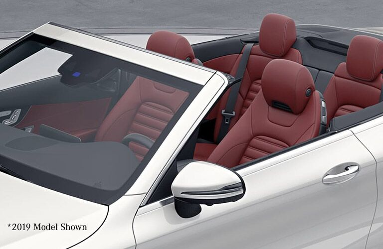 top down on a white 2020 Mercedes-Benz C-Class Cabriolet