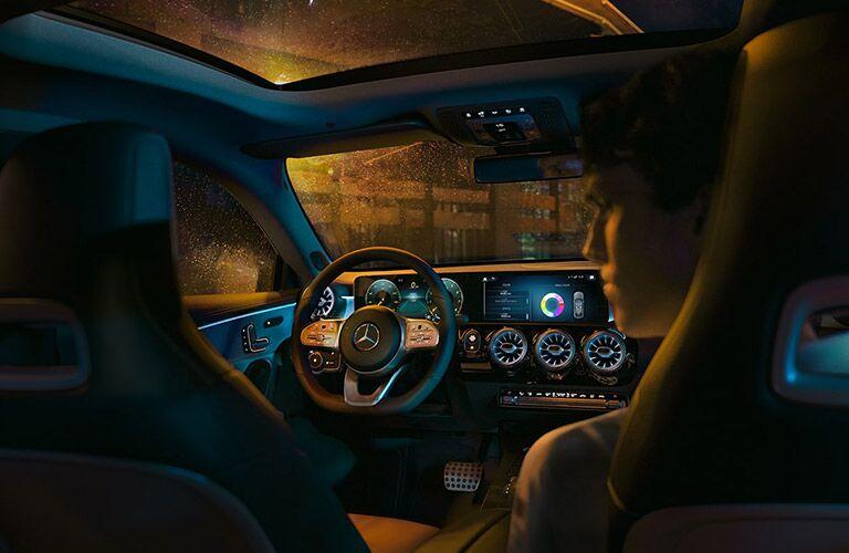 Interior cabin view of a 2020 mercedes-benz cla