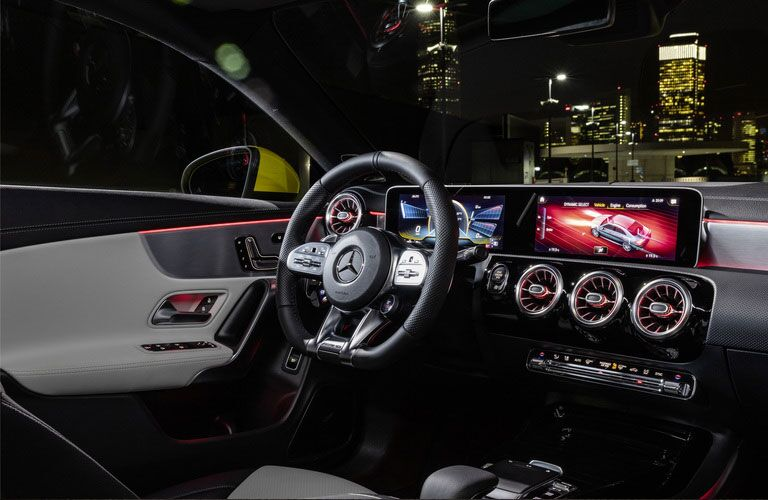 front interior of a 2020 Mercedes-Benz CLA Coupe