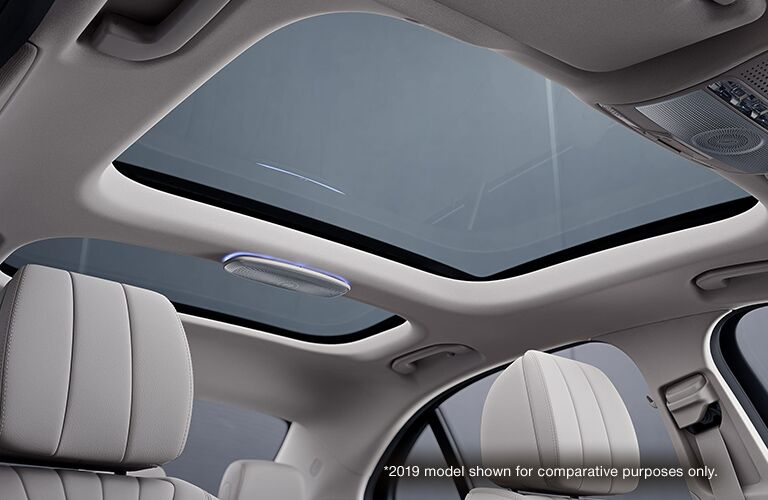 sun roof in a 2020 Mercedes-Benz E-Class Coupe