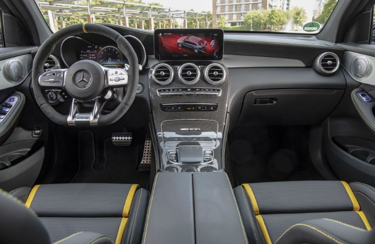 front interior of a 2020 Mercedes-Benz GLC Coupe