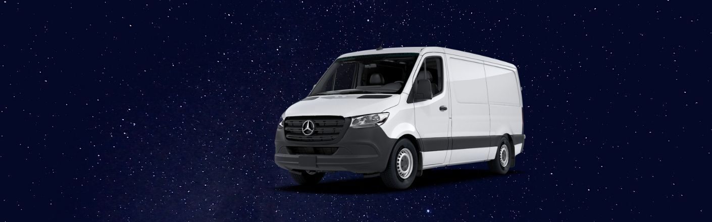 2020 Mercedes-Benz Sprinter 2500 floats through outer space