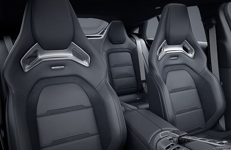 Rear seats inside 2021 Mercedes-AMG 43