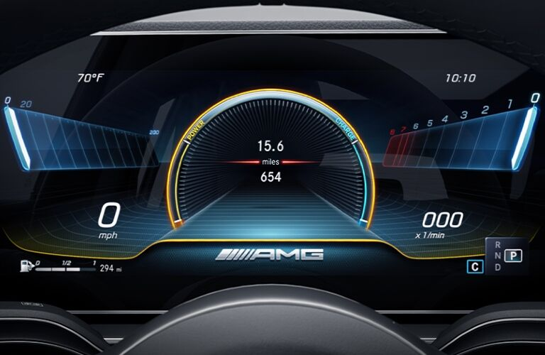 Screen inside 2021 Mercedes-AMG GT 43