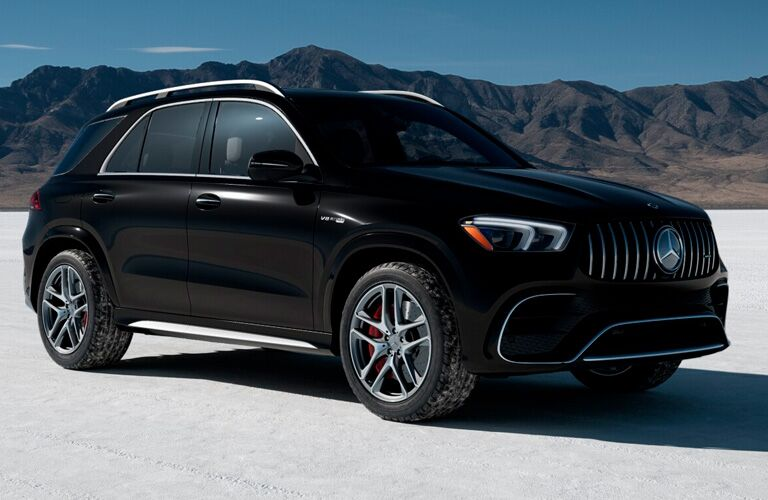 Black 2021 Mercedes-AMG® GLE 63 on snow