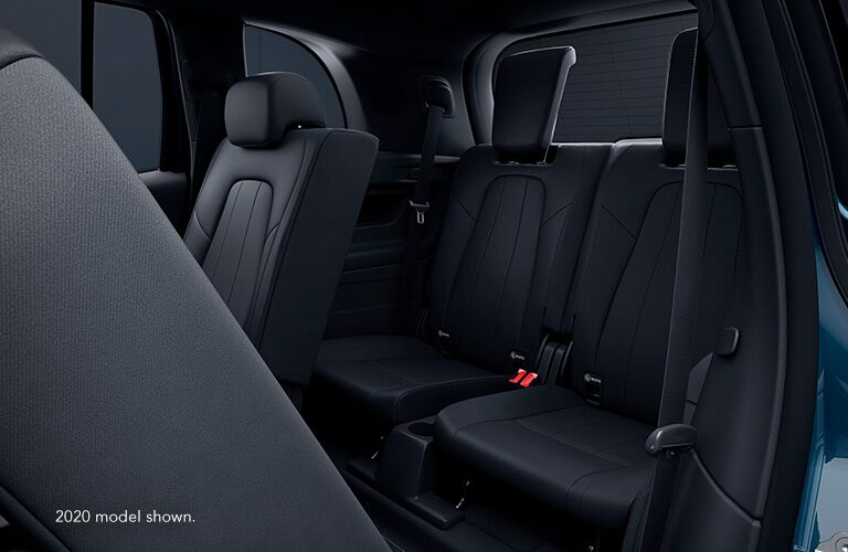 """Seating inside Mercedes-Benz GLB. Text reads, """"2020 model shown."""""""