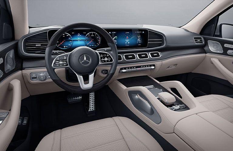 Interior cockpit of 2021 Mercedes-Benz GLS