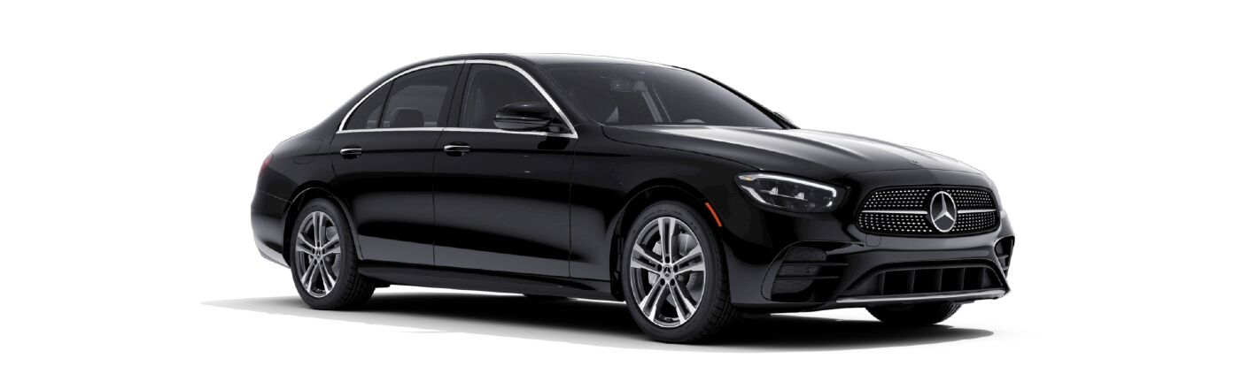 Front/side view of 2021 Mercedes-Benz E-350 Sedan