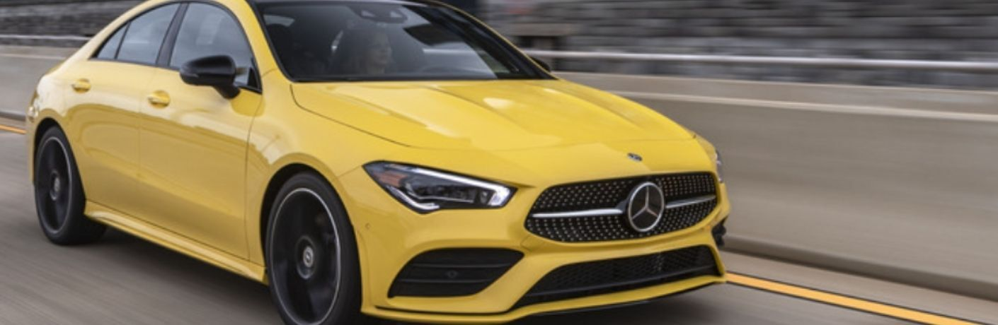 2021 Mercedes-Benz CLA 250 Coupe front quarter view