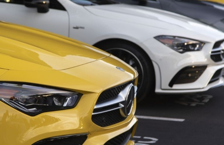 A series of 2021 Mercedes-Benz CLA 250 Coupe