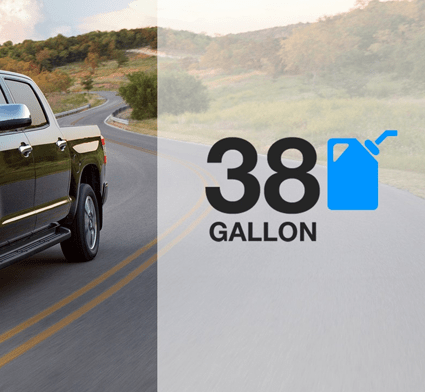 2018 Toyota Tundra 38-gallon fuel tank