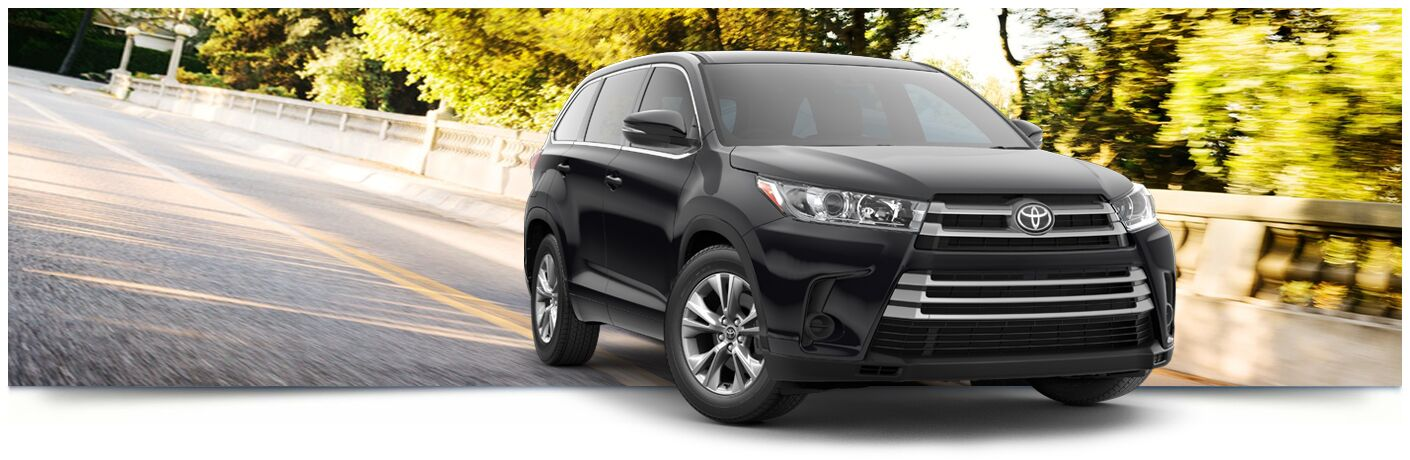 2018 Toyota Highlander driving down road