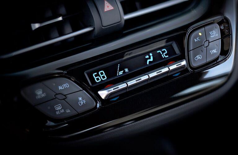 2019 Toyota C-HR dashboard close-up