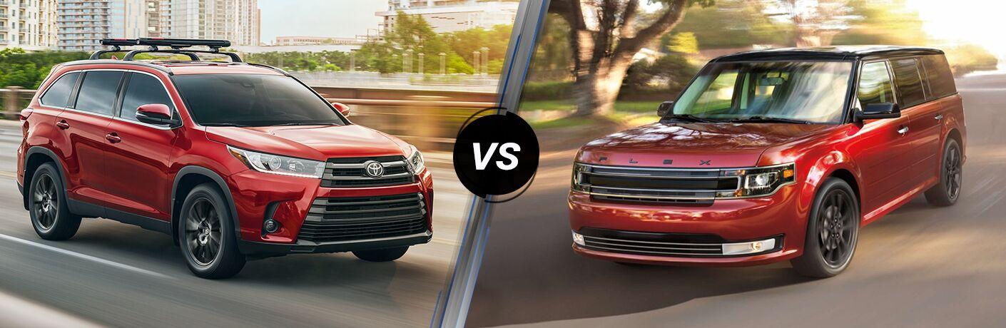 2019 Toyota Highlander vs 2019 Ford Flex