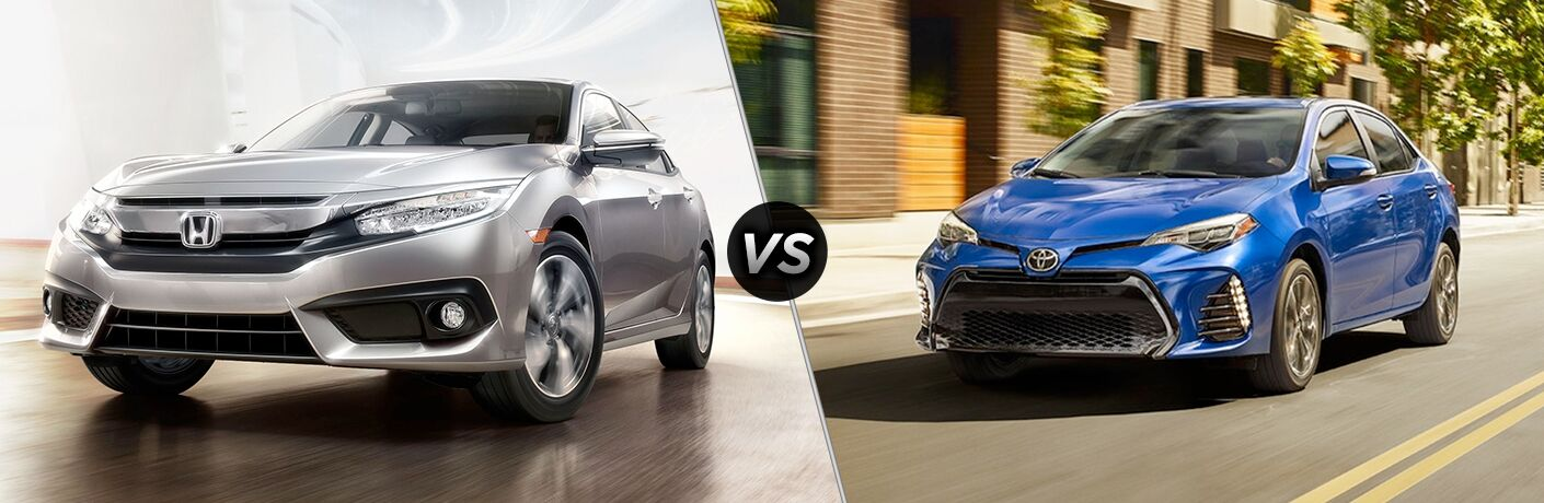 2018 Honda Civic touring vs 2018 Toyota Corolla XLE
