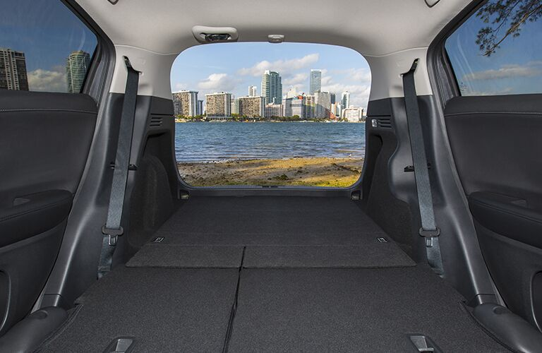 view out tailgate with rear seat folded flat in 2018 Honda HR-V