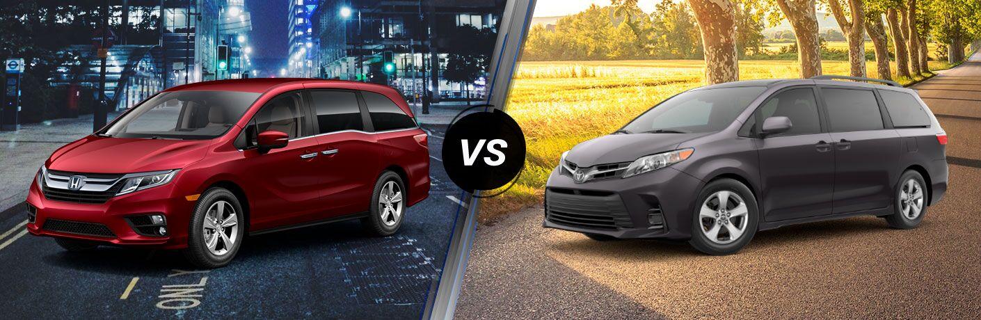 2018 Honda Odyssey EX vs 2018 Toyota Sienna LE