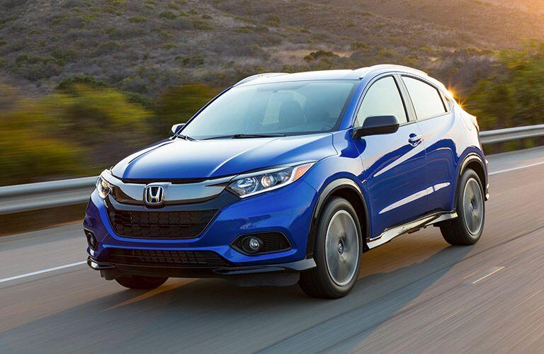 2019 Honda HR-V driving on a highway