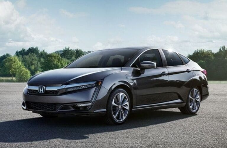 2019 Honda Clarity Plug-In Hybrid parked in an empty lot