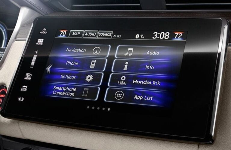 2019 Honda Clarity Plug-In Hybrid infotainment system close-up