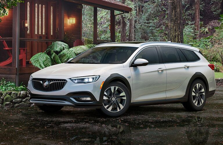 2019 Buick Regal TourX parked outside forest home