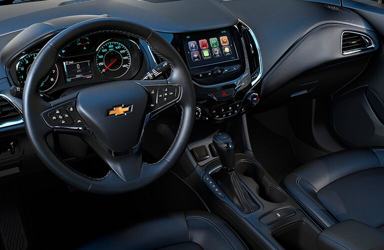 View of the dashboard of the 2018 Chevrolet Cruze hatchback