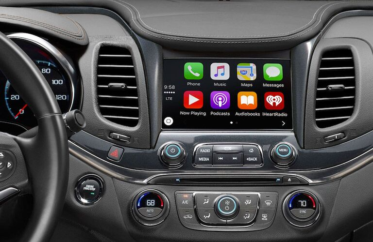 View of the touchscreen on the 2018 Chevrolet Impala