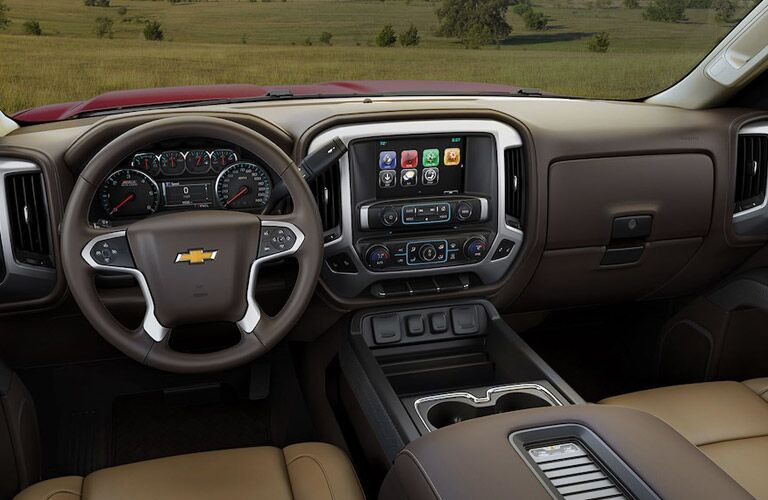 2018 Chevy Silverado interior and dashboard