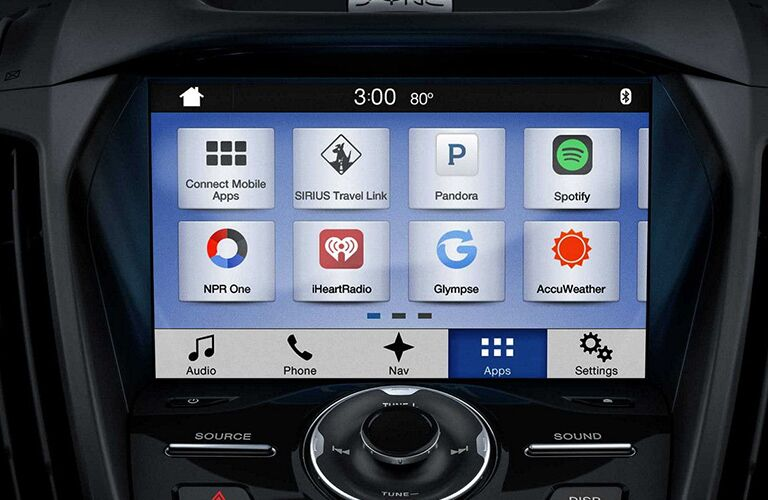 2018 Ford Escape infotainment screen
