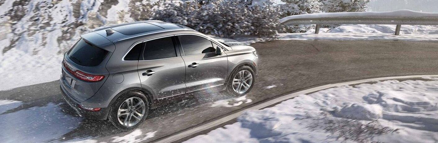 2018 Lincoln MKC driving through the snow