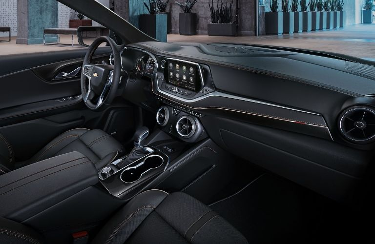 2019 Chevy Blazer dashboard and steering wheel
