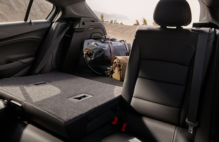 Folded rear seats in 2019 Chevrolet Cruze