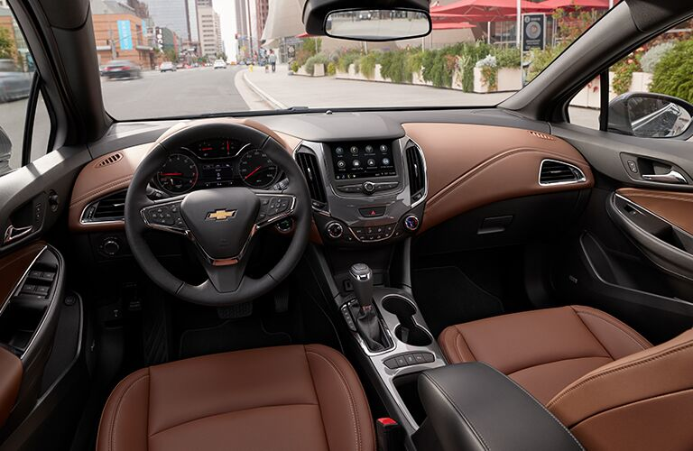 Black and tan leather in 2019 Chevrolet Cruze