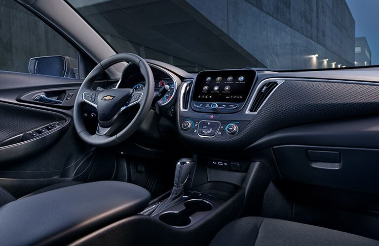 2019 Chevy Malibu dashboard and steering wheel