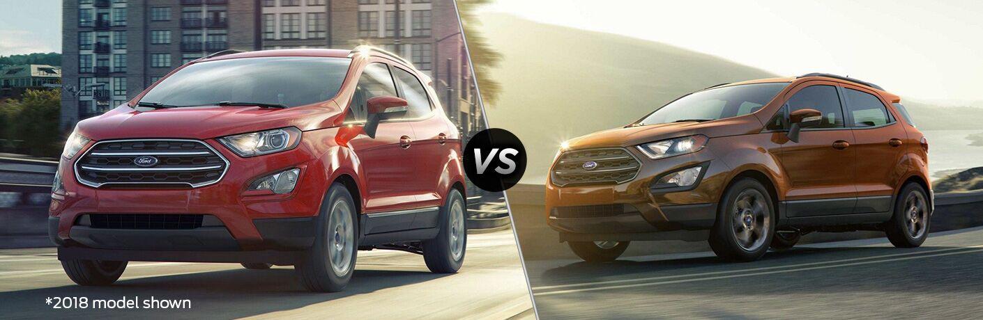 2019 Ford EcoSport vs 2018 Ford EcoSport