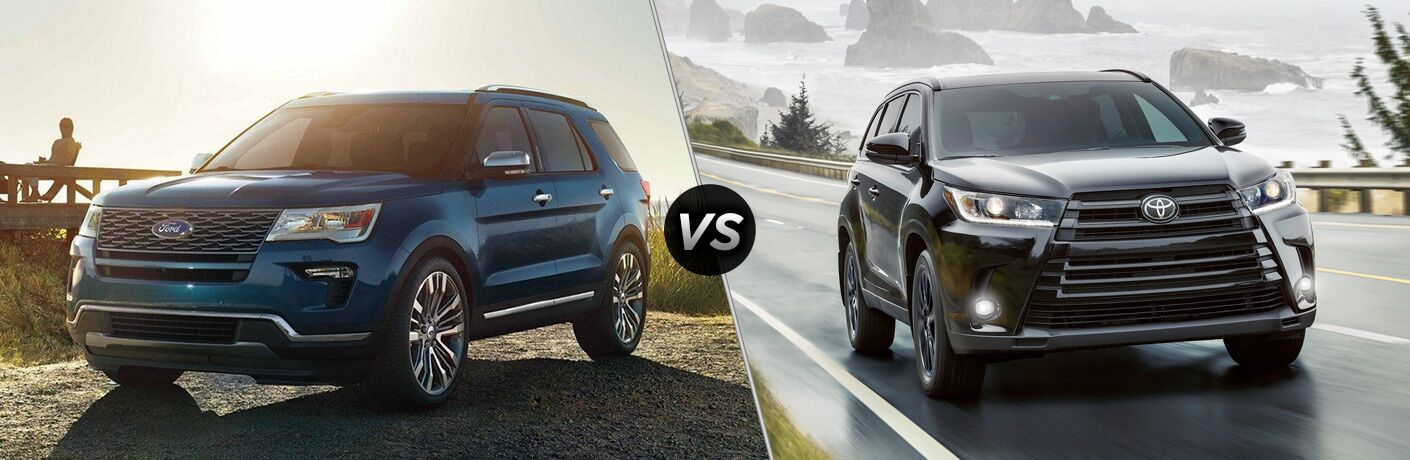 2019 Ford Explorer vs 2019 Toyota Highlander