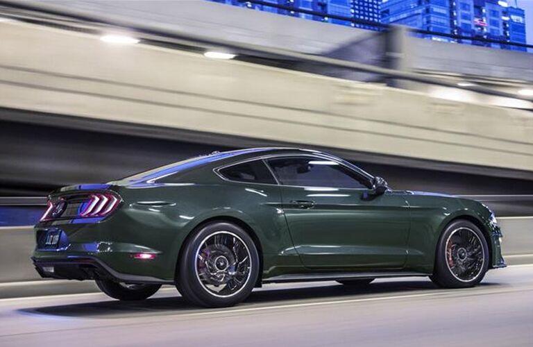2019 Ford Mustang Bullitt on highway by ramp