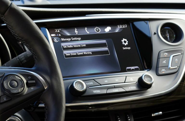 2019 Buick Envision interior close up of touchscreen controls