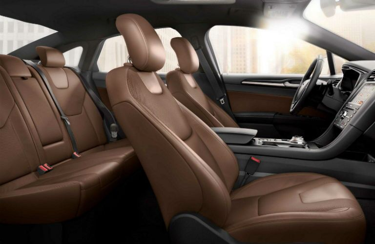 2019 Ford Fusion interior front and back cabin seats