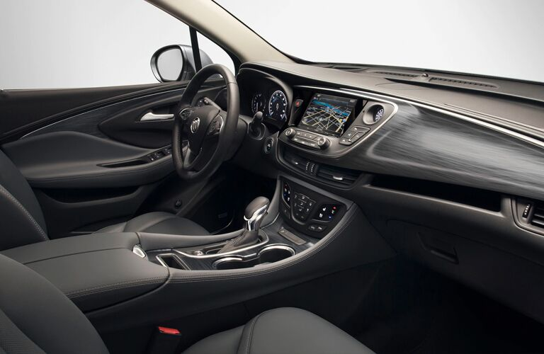 Interior driver's region of a 2020 Buick Envision