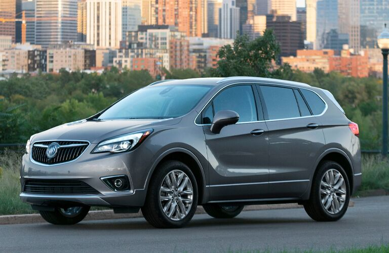 2020 Buick Envision on a road outside a city