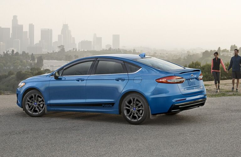 2020 Ford Fusion in blue