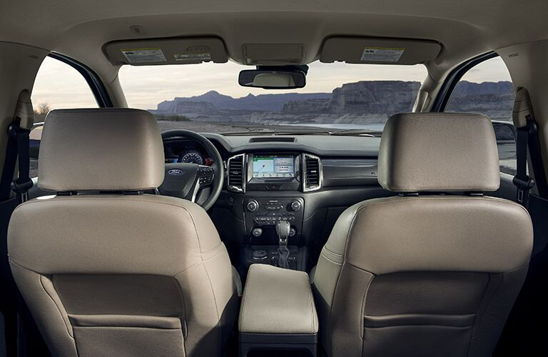Interior front region of a 2020 Ford Ranger