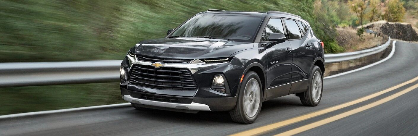 2021 Chevrolet Blazer on winding rural road