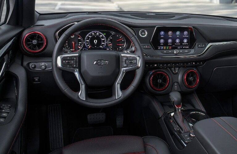 2021 Chevrolet Blazer dashboard and steering wheel