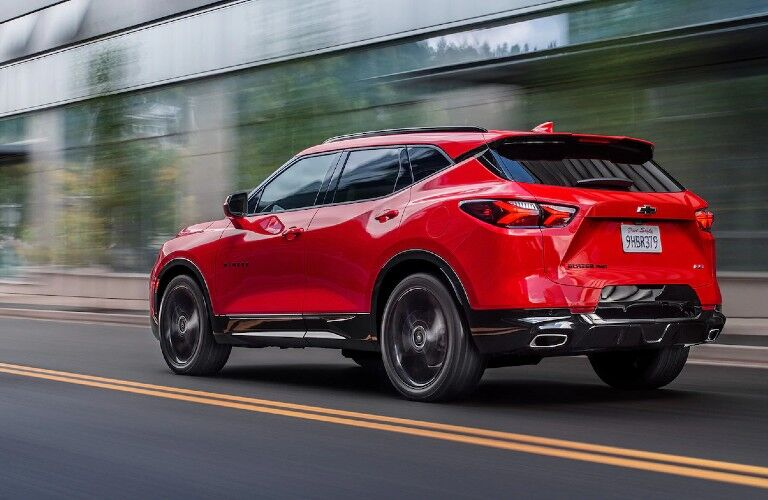 2021 Chevrolet Blazer on city street
