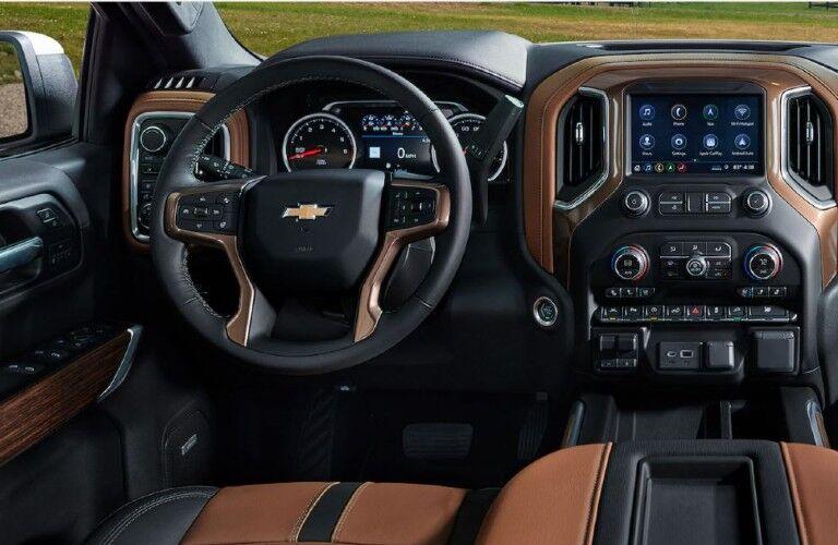 Front seat of 2021 Chevrolet Silverado